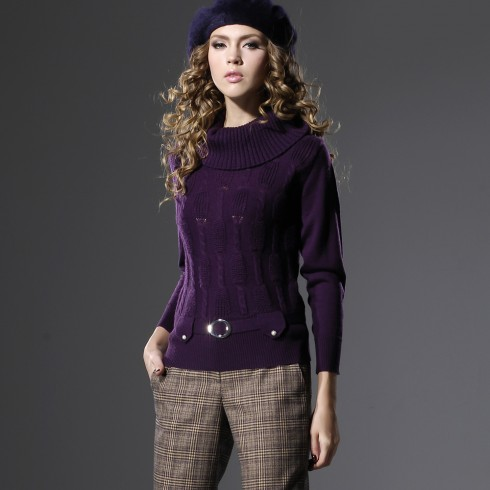 Someother Purple Collar Sweater